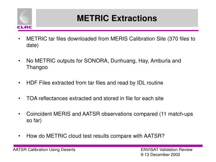 METRIC Extractions