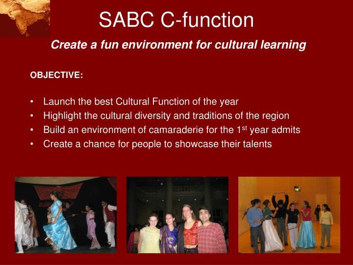 SABC C-function