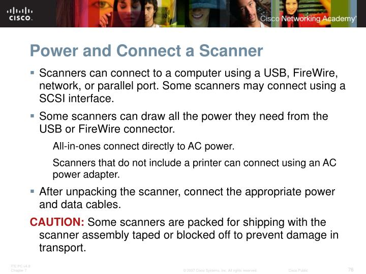 Power and Connect a Scanner