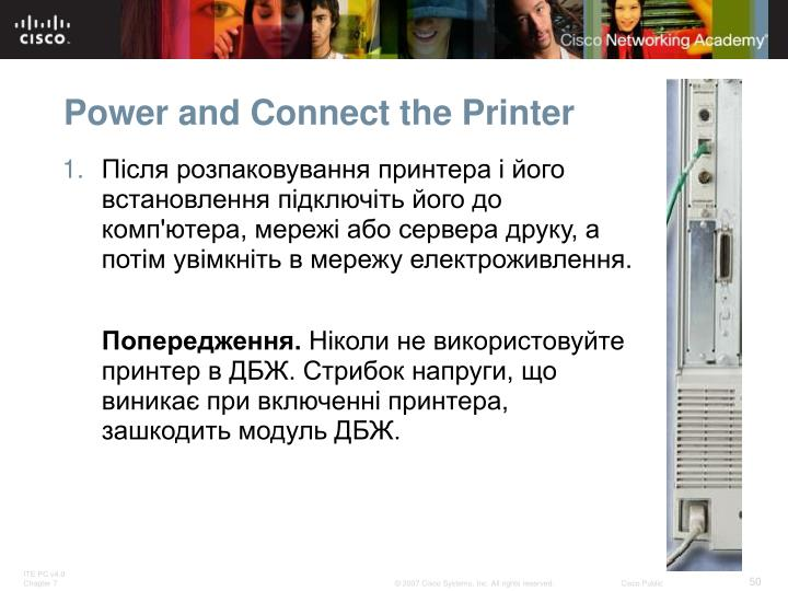Power and Connect the Printer
