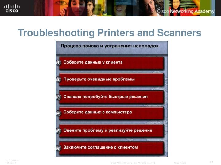 Troubleshooting Printers and Scanners