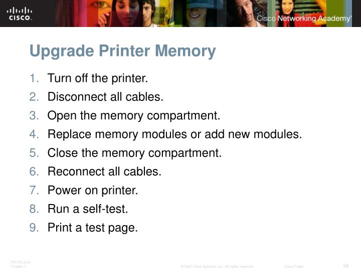 Upgrade Printer Memory