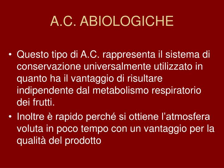 A.C. ABIOLOGICHE