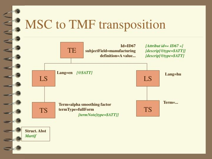 MSC to TMF transposition