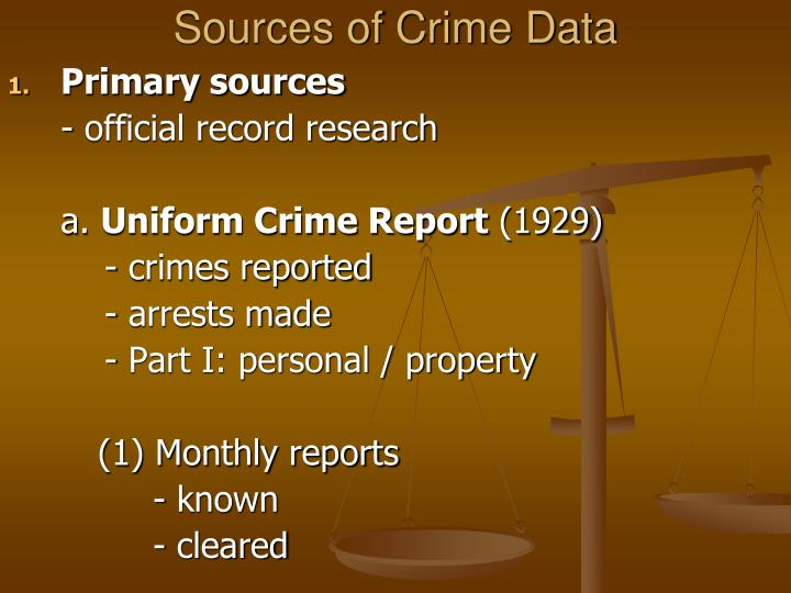 Sources of Crime Data