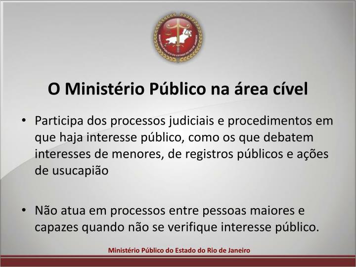 O Ministério Público na área cível