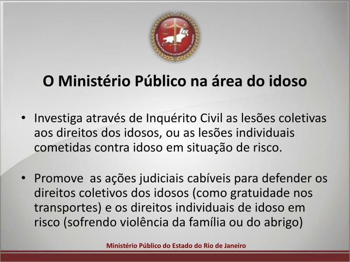 O Ministério Público na área do idoso
