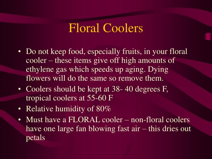 Floral Coolers