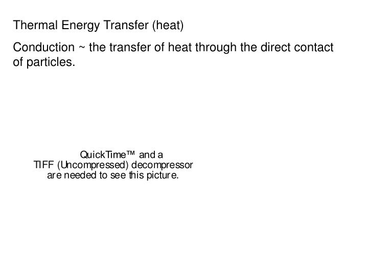 Thermal Energy Transfer (heat)