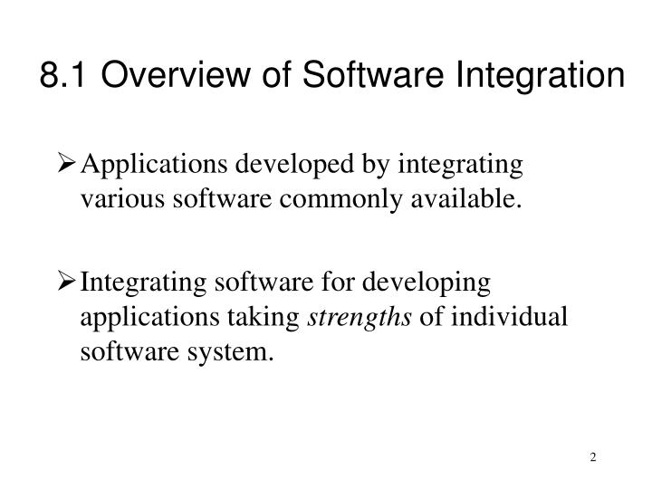 8.1	Overview of Software Integration