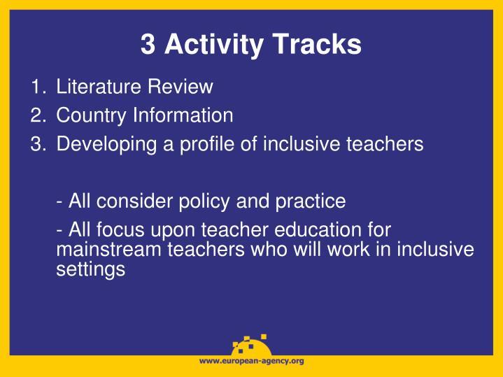 3 Activity Tracks