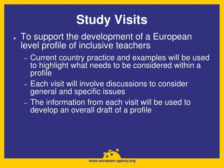 Study Visits
