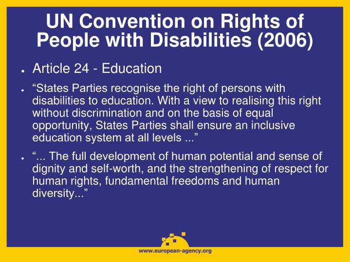 UN Convention on Rights of People with Disabilities (2006)