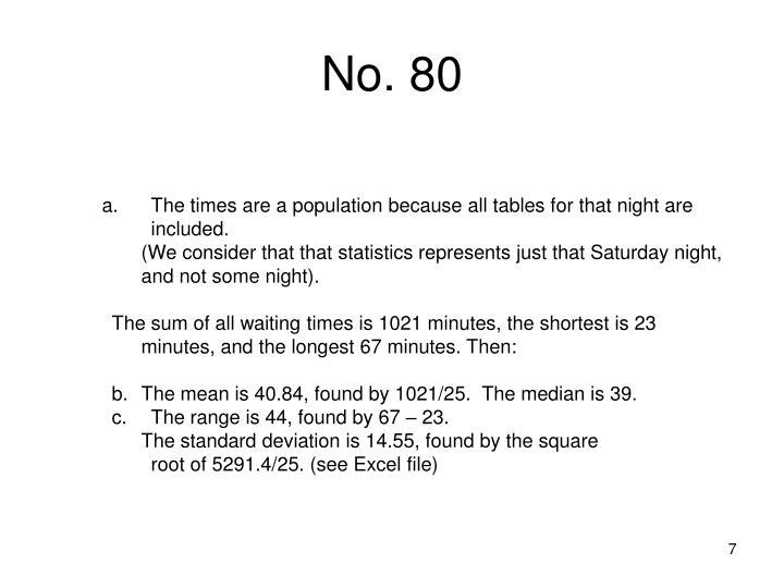 No. 80