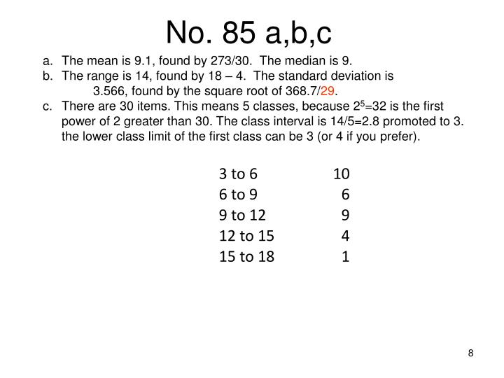 No. 85 a,b,c