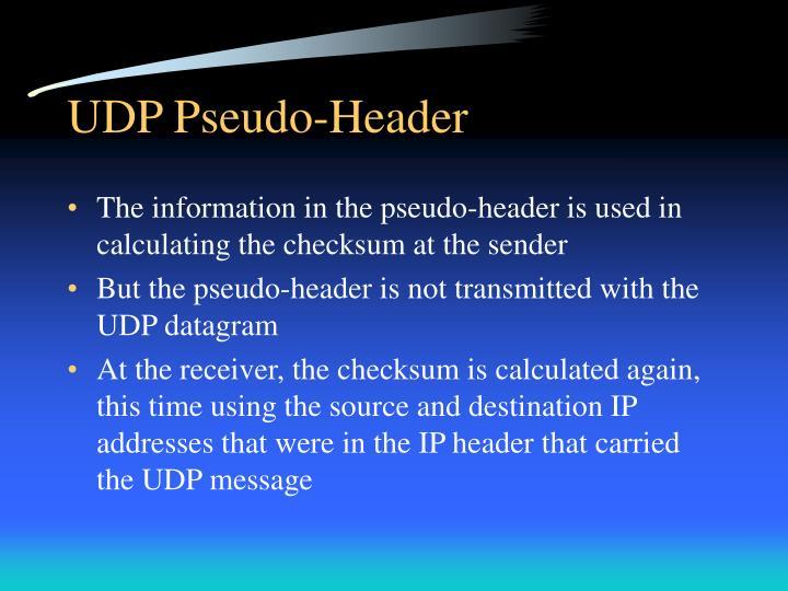 UDP Pseudo-Header