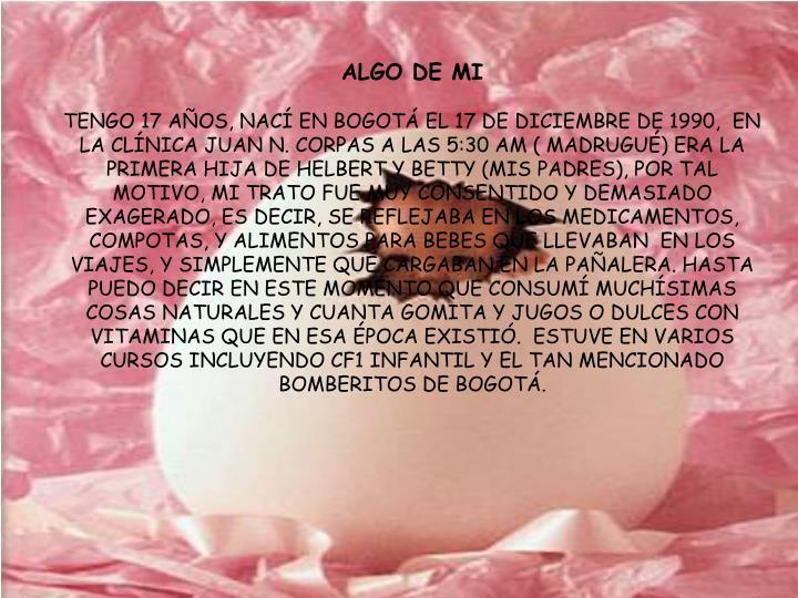 ALGO DE MI