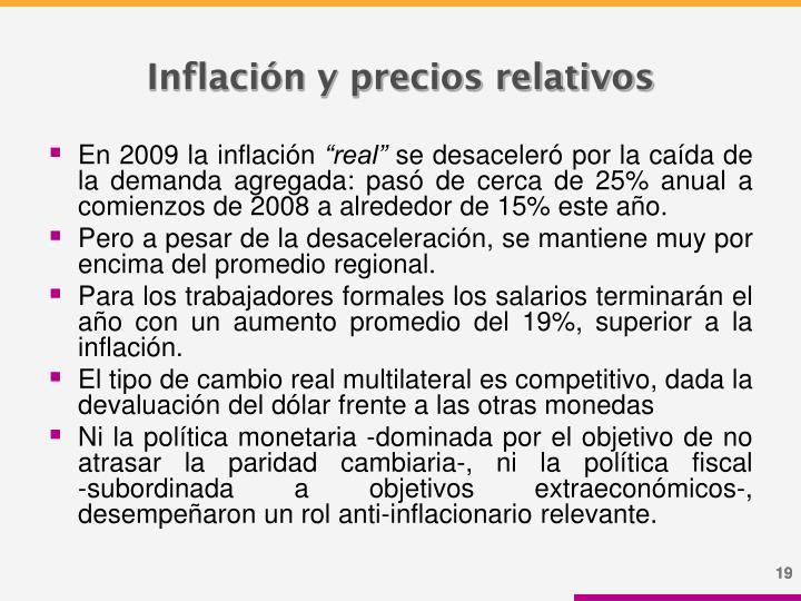 Inflación y precios relativos