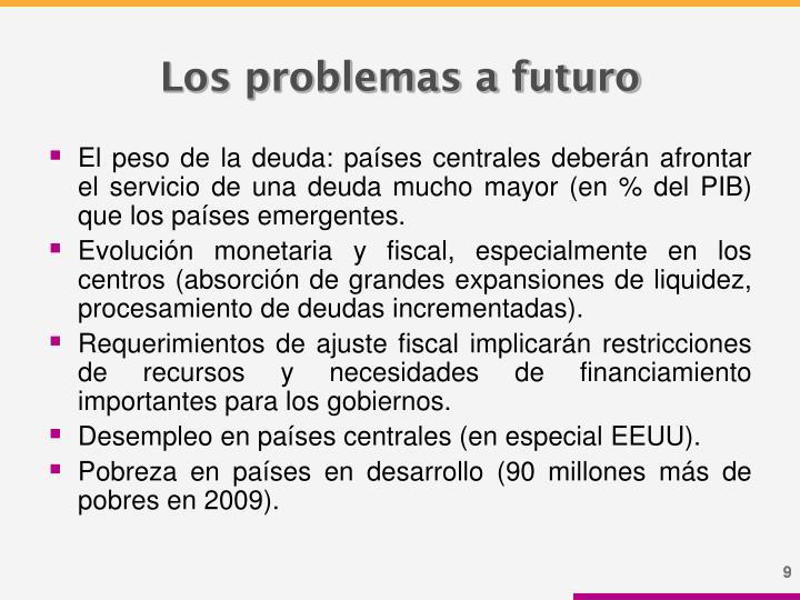 Los problemas a futuro
