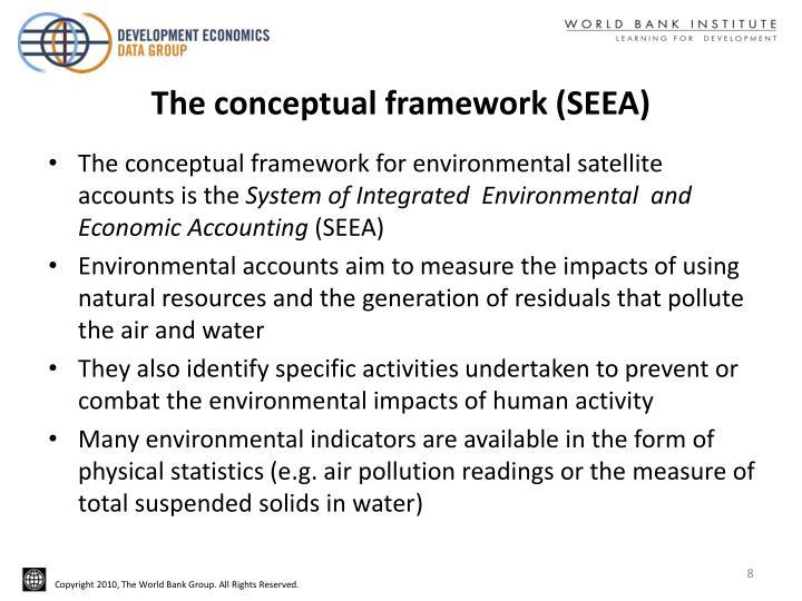 The conceptual framework (SEEA)