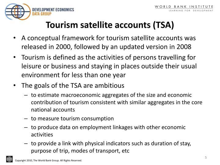 Tourism satellite accounts (TSA)