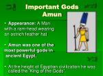 important gods amun