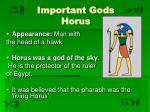 important gods horus