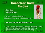 important gods ra re