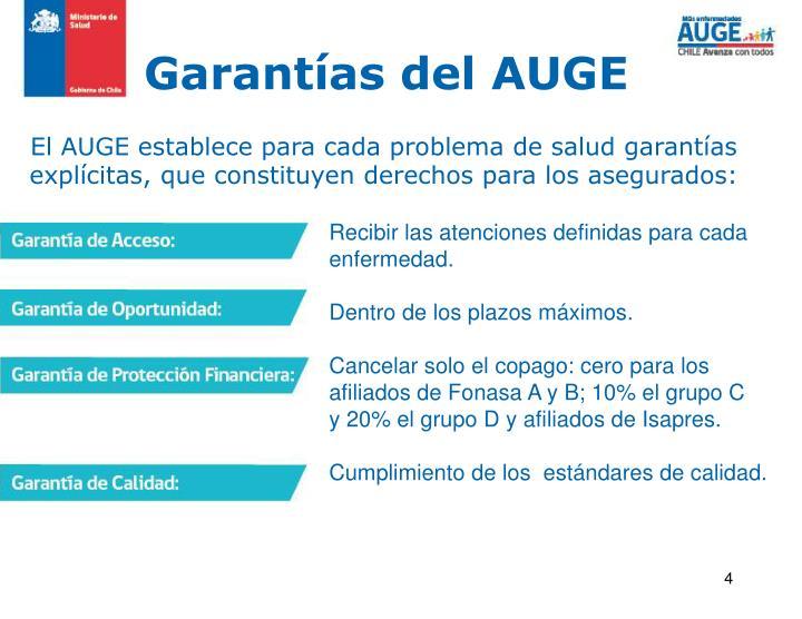 Garantías del AUGE