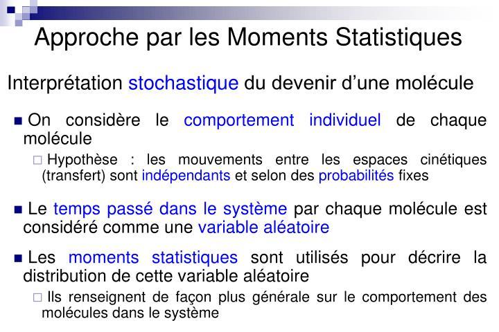 Approche par les Moments Statistiques