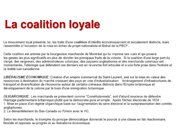 La coalition loyale