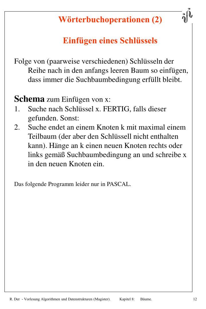Wörterbuchoperationen (2)