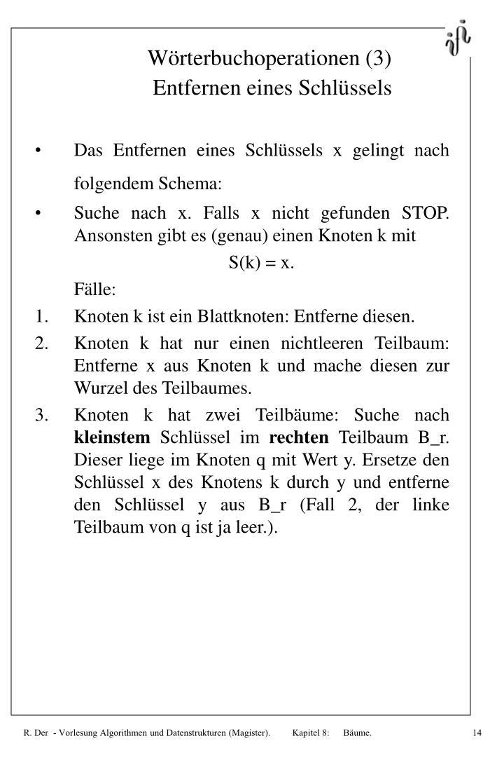 Wörterbuchoperationen (3)