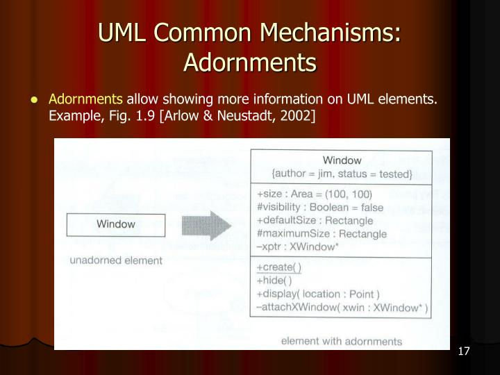 UML Common Mechanisms: Adornments