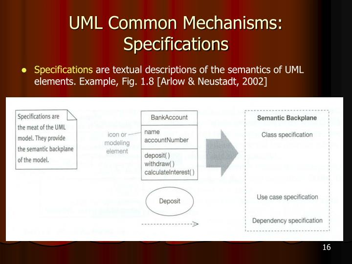 UML Common Mechanisms: Specifications