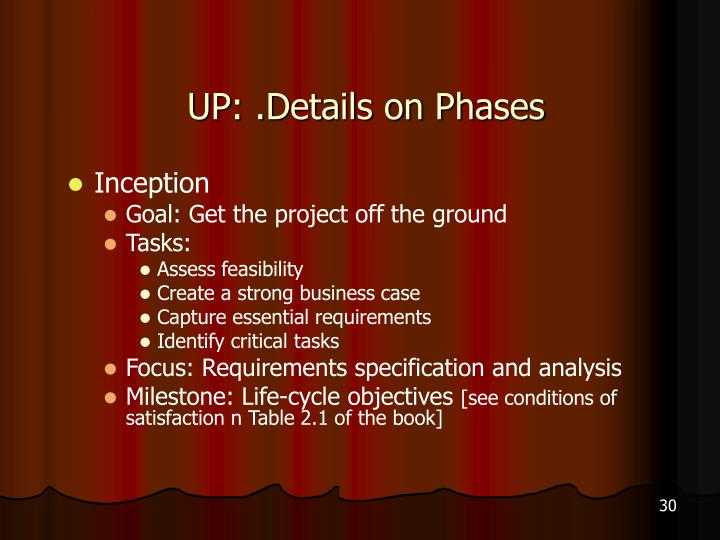 UP: .Details on Phases