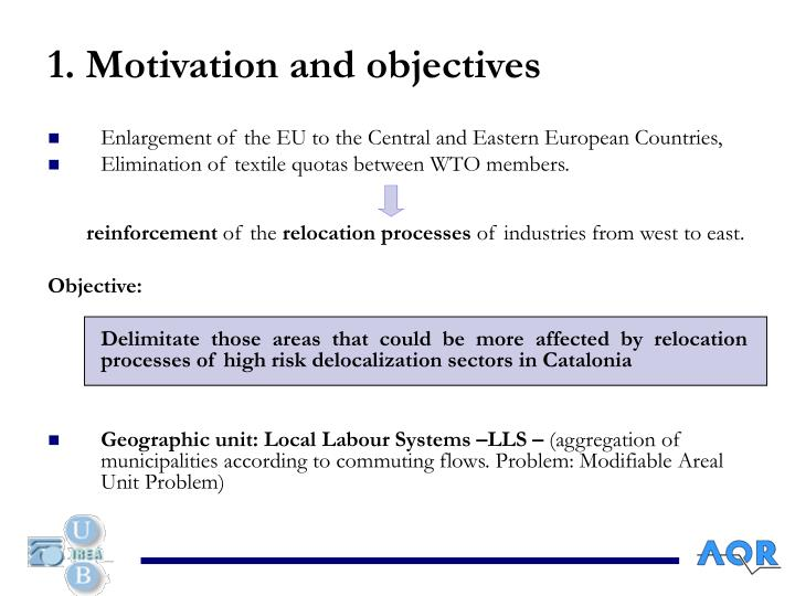 1. Motivation and objectives