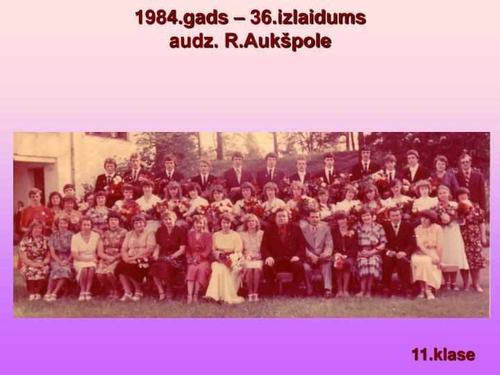 1984.gads – 36.izlaidums