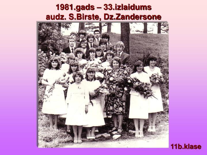 1981.gads – 33.izlaidums