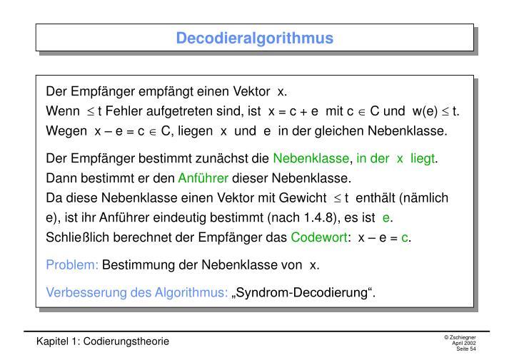 Decodieralgorithmus