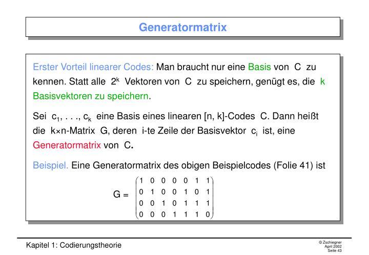 Generatormatrix