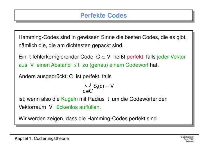 Perfekte Codes