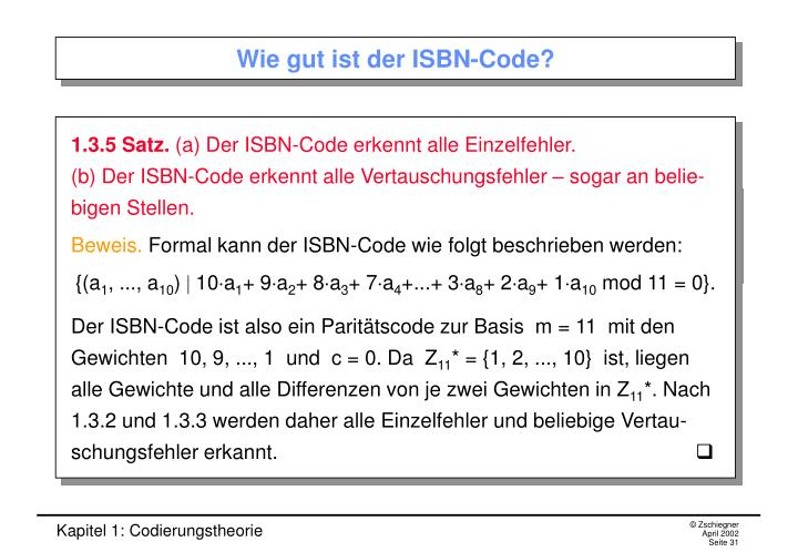 Wie gut ist der ISBN-Code?