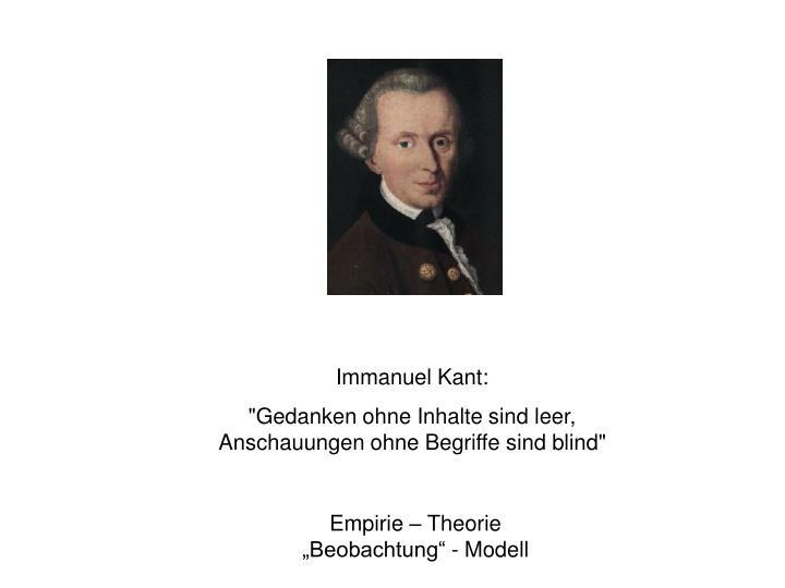 Immanuel Kant:
