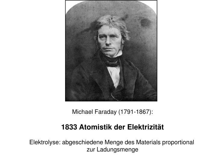 Michael Faraday (1791-1867):