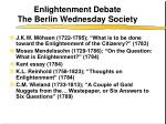 enlightenment debate the berlin wednesday society