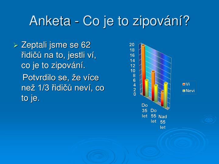 Anketa - Co je to zipování?