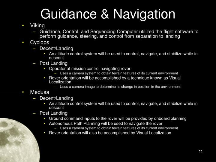 Guidance & Navigation