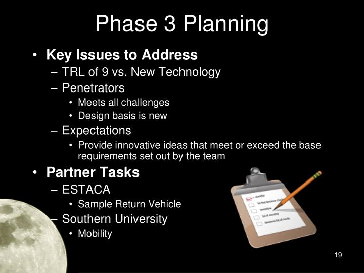 Phase 3 Planning