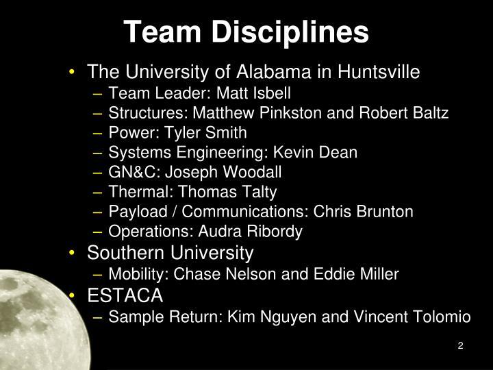 Team Disciplines